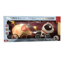 拖拉乐拖拖乐0-1-3岁拉线绳牵引学步走路儿童手动物宝宝益智玩具