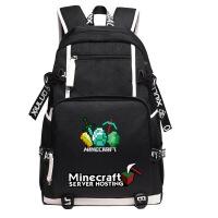 【优选】我的世界书包Minecraft夜光男女中小学生游戏周边双肩背包苦力怕