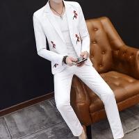 西服套装男士三件套修身西装休闲时尚秋季小西服韩版帅气礼服套装