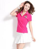 夏季网球棒球服女套装短裙运动套裙女裙裤大码短袖休闲套装潮
