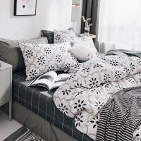 北欧风网红床上用品床单四件套全棉超柔纯棉简约4件套被套三件套