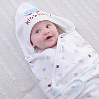 【支持礼品卡】纯棉婴儿抱被新生儿包被抱毯春秋宝宝用品被子春夏季薄款襁褓包巾 i4y
