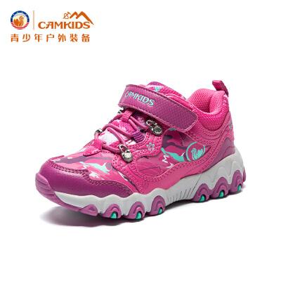 CAMKIDS户外登山鞋2017冬季新款儿童运动鞋中小童防滑耐磨尾品汇大促