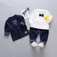 男童小宝宝春秋长袖套装婴幼儿童装三件套