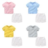 男童夏装短裤子套装婴儿短袖t恤1岁6个月0宝宝衣服
