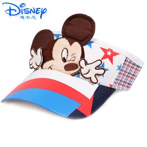 迪士尼宝贝帽子春夏帽遮阳太阳帽子儿童男童女童帽子凉帽空顶帽子