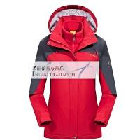 户外冲锋衣三合一男女两件套秋冬新款防水登山服保暖