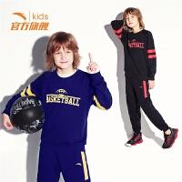 安踏儿童官方旗舰店童装2019新款男童篮球套运动服中大童运动套装
