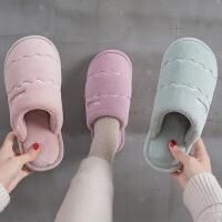 2019新款棉拖鞋女冬季保暖家用室内防滑保暖情侣月子棉鞋男士家居