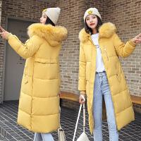 【极速发货 超低价格】棉衣女2020中长款新款冬韩版面包服棉服毛领过膝学生外套bf潮保暖