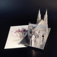 3D金属拼装模型 圣帕特里克大教堂 DIY手工原型玩具拼图汽车摆件