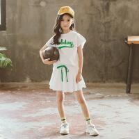 女童套装夏装童装女印花儿童短袖两件套
