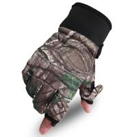 男士迷彩新款内里抓绒加厚防滑触摸屏骑行手套战术军迷手套