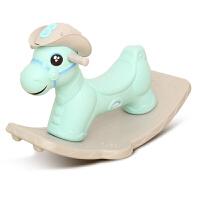 摇摇马儿童1-2-3周岁宝宝生日礼物带音乐木马塑料玩具