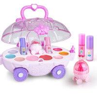 儿童化妆品玩具套装女孩过家家无毒女童公主化妆车手提箱指甲油