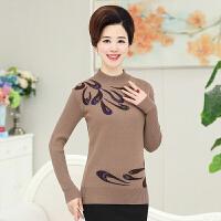 韩观中老年女装秋冬装打底衫40-50岁中年人妈妈装上衣针织衫毛衣外套