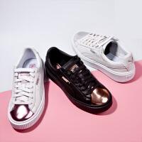 【网易考拉】PUMA 彪马 BASKET PLATFORM 蕾哈娜同款系列金属头厚底松糕女鞋运动休闲鞋 366169