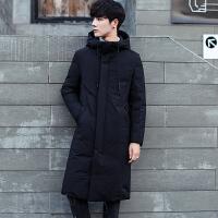 男士羽绒服男中长款过膝长款大衣7冬装韩版加厚修身青年潮外套