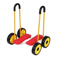儿童平衡脚踏踩踏车四轮滑板行扭扭车幼儿园感统教学健身3岁玩具