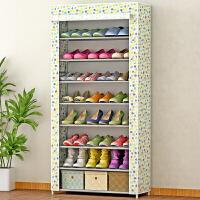 蜗家简易鞋柜鞋架 大容量单排鞋橱 加厚无纺布收纳柜 防尘储物柜 柜子08CX