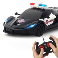 遥控小汽车警车漂移摇控越野赛车男孩充电动版儿童跑车模高速玩具