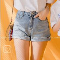 女童牛仔短裤2018夏装韩版亲子装牛仔毛边短裤中大童时尚百搭热裤