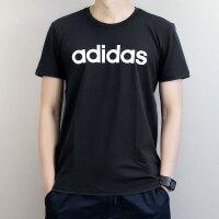 adidas neo阿迪休闲2018夏季男子舒适透气运动休闲圆领短袖T恤DN2496