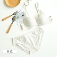 薄款深V性感文胸内衣内裤套装女日系少女聚拢小胸调整型胸罩