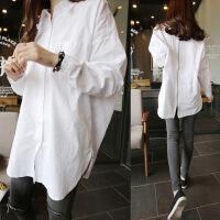 衬衫棉2018年春季舒适修身纯色气质韩版简约宽松 白色 均码