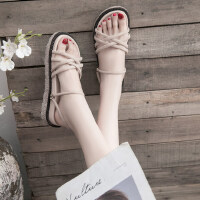 外穿韩版百搭平底沙滩鞋凉鞋女夏厚底仙女风两穿凉拖鞋