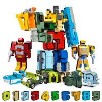 数字字母变形玩具金刚机器人恐龙益智拼装儿童