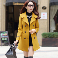 新品促销 2017秋冬女装 韩版时尚气质显瘦中长款毛呢大衣毛呢外套