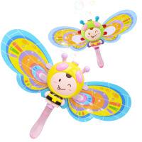 电动灯光音乐卡通蜜蜂泡泡棒泡泡枪 全自动泡泡机儿童户外玩具 小蜜蜂:颜色随机(6229)