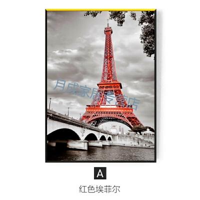 埃菲尔铁塔壁画红色记忆现代简约客厅装饰画摄影壁画挂画金门大桥  83*123 34mm厚 《红色记忆》:单幅价格 新品活动