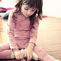 儿童家居服套装女童睡衣宝宝春秋纯棉长袖内衣女孩碎花童装潮