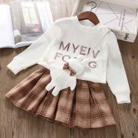 女童套装裙时髦公主2019春装新款儿童女童装套装两件套套裙潮