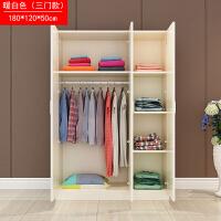 简易组装衣柜简约现代经济型2门儿童衣柜实木质板式橱柜抽屉柜