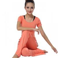 瑜伽服春夏三件套运动套装莫代尔女舞蹈健身服短袖练功服