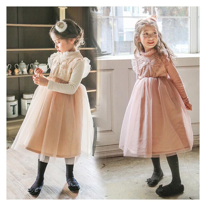 韩国童装女童冬装新款公主裙加绒加厚韩版长裙新年礼服儿童连衣裙 发货周期:一般在付款后2-90天左右发货,具体发货时间请以与客服协商的时间为准