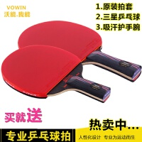 乒乓球拍 直拍 横拍 红黑纳米碳王 乒乓底板反胶皮套胶乒乓球球拍