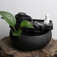 陶瓷流水摆件办公室桌面喷泉客厅风水轮加湿器鱼缸小礼品禅意