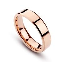 素戒指情侣一对彩金食指环女镀18K玫瑰金时尚大气男结婚对戒 玫瑰金 女戒不清楚号码