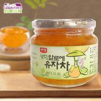 【满99减50元】韩国进口韩福10.2蜂蜜芦荟柚子茶580g