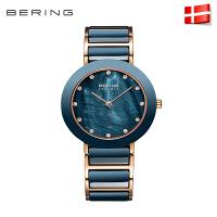 bering白令进口时尚石英表陶瓷女士手表镶钻防水表时装女表11435