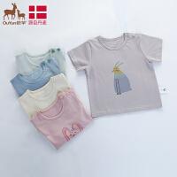 欧孕男童女童短袖2019新款宝宝夏装儿童休闲韩版洋气婴幼儿童上衣