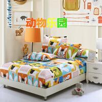 单件纯棉床笠0.9床罩1.35卡通床套2米1.8全棉儿童可爱床垫保护套
