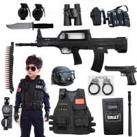 cos小军人mp5特警军事仿真道具男孩生日礼物儿童电动玩具枪套装