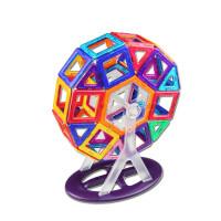 磁力片百变提拉磁性积木磁铁拼装构建男女孩3-6-8岁儿童玩具 摩天轮礼盒套装 206件