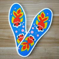 十字绣鞋垫自己绣 十字绣鞋垫自己绣男士防臭做自缝鞋垫手缝手工鞋垫的材料手工十字