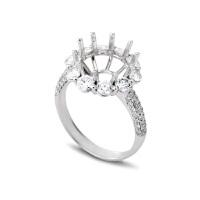 先恩尼 18K金 钻石戒指 钻石女戒 结婚钻戒 戒指 HFGCH295 钻石戒托